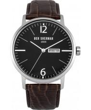 Ben Sherman WB046BR Mens Big Portobello Proffesional Brown Leather Strap Watch