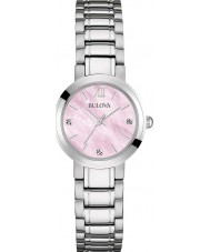 Bulova 96P165 Ladies Silver Tone Bracelet Watch