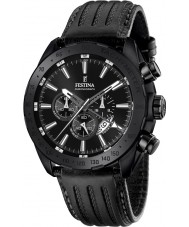 Festina F16902-1 Mens Prestige Black Leather Chronograph Watch