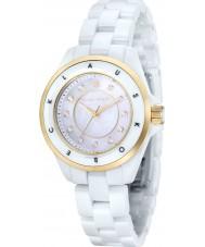 Klaus Kobec KK-10004-03 Ladies Luna Gold and White Ceramic Watch