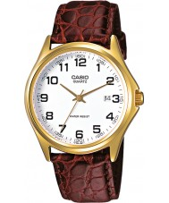 Casio MTP-1188PQ-7BEF Mens Collection Brown Leather Strap Watch