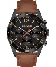 coach mens sullivan sport brown leather strap watch