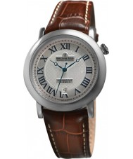 Dreyfuss and Co DGS00030-21 Mens 1925 Silver Stamped Brown Automatic Watch