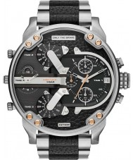 Diesel DZ7349 Mens Mr Daddy Silver Black Multifunction Watch