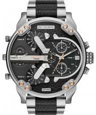 Diesel DZ7349 Mens Mr Daddy Silver Black Multifunction Watch