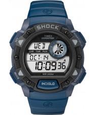 Timex TW4B07400 Mens Base Shock Blue Resin Chronograph Watch