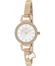 Radley Ladies Stone Set Rose Gold Plated Half Bangle Watch