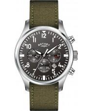 Rotary GS02680-19 Mens Timepieces Pilot Chronograph Khaki Canvas Strap Watch