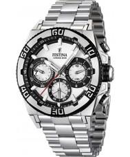 Festina F16658-1 Mens Chrono Bike 2013 White and Silver Watch