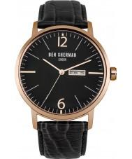Ben Sherman WB046BRG Mens Big Portobello Proffesional Black Leather Strap Watch