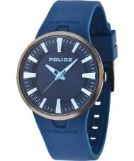 Police 14197JSU-61P Mens Dakar Blue Rubber Strap Watch
