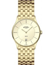 Rotary GB08203-03 Mens Ultra Slim Champagne Gold Watch