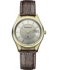 Barbour BB016GDBR Mens Heaton Brown Leather Strap Watch
