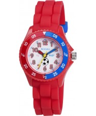 Tikkers Boys Red Time Teacher Football Watch