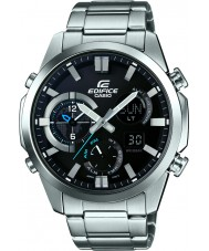 Casio ERA-500D-1AER Mens Edifice Dual Time Thermometer Combi Silver Watch