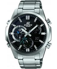 Casio ERA-500D-1AER Mens Edifice Dual Time Thermometer Combi Silver Watch
