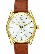 Nixon A459-2227 Mens C39 Gold Saddle Horween Leather Watch
