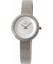 Obaku V146LECIMC Ladies Stone Set Silver Mesh Bracelet Watch
