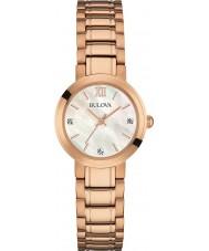 Bulova 97P115 Ladies Rose Gold Plated Bracelet Watch
