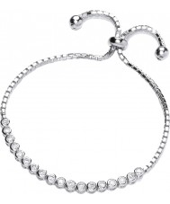 Purity 925 Ladies Sterling Silver Bracelet With CZ