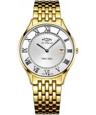 Rotary GB90803-01 Mens Ultra Slim Gold Plated Bracelet Watch