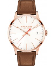 Coach 14602095 Mens Metrpolitan Brown Leather Strap Watch