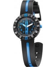 Flik Flak FCSP031 Boys Blue Ahead Two Tone Silicone Strap Watch