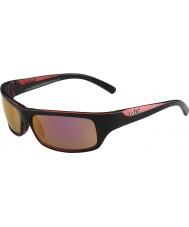 Bolle Fierce Shiny Black Rose Polarized Rose Gold Sunglasses
