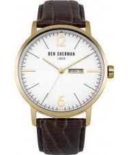 Ben Sherman WB046TG Mens Big Portobello Proffesional Brown Leather Strap Watch