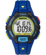 Timex TW5M02400 Ironman 30-Lap Rugged Full Size Blue Resin Strap Chronograph Watch