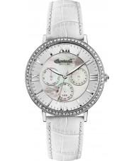 Ingersoll INQ034SLSL Ladies White Leather Strap Watch