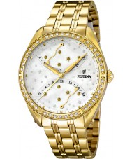 Festina F16743-1 Ladies Gold Plated Multifunction Watch