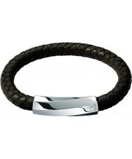 Calvin Klein KJ2BCB09010L Mens Bewilder Brown Leather Bracelet