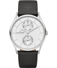 Skagen SKW6065 Mens Holst Black Leather Strap Watch