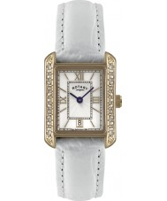 Rotary LS02652-41 Ladies Timepieces White Leather Strap Watch