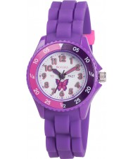 Tikkers TK0041 Girls Purple Time Teacher Butterfly Watch