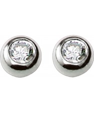 Thomas Sabo H1819-051-14 Ladies Silver Stud Earrings with White Zirconia