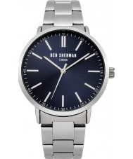 Ben Sherman WB061USM Mens Silver Tone Steel Bracelet Watch