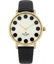 Kate Spade New York 1YRU0107 Ladies Metro Black Patent Leather Strap Watch