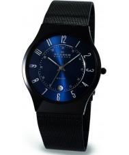 Skagen T233XLTMN Mens Aktiv Blue and Black Titanium Watch