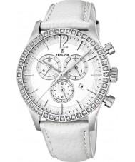 Festina F16590-1 Ladies Chronograph Leather Strap Watch