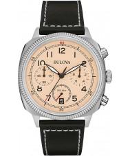 Bulova 96B231 Mens Military UHF Beige Black Chronograph Watch