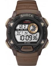 Timex TW4B07500 Mens Base Shock Brown Resin Chronograph Watch