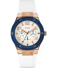 Guess W0564L1 Ladies Jet Setter White Silicone Strap Watch