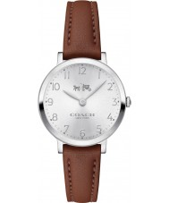 Coach 14502563 Ladies Ultra Slim Saddle Leather Strap Watch