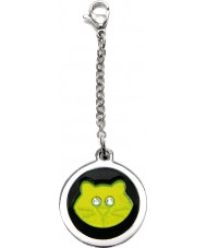 I Puppies PF-001-G Cat Steel and Green Tag For Collar Medallion