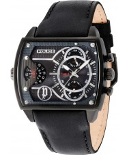 Police 14698JSB-13A Mens Scorpion Black Leather Strap Watch