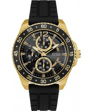 Guess W0798G3 Mens Jet Black Silicone Strap Watch