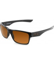 Oakley OO9189-03 TwoFace Polished Black - Dark Bronze Sunglasses