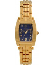 Krug-Baumen 1964DLG Tuxedo Gold 4 Diamond Blue Dial Gold Strap